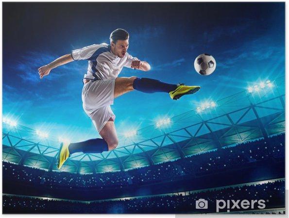 Plakat Piłkarz w akcji - Sporty drużynowe