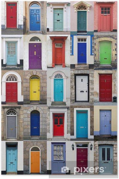 Plakat Pionowe kolażu z 25 przednich drzwiach - Przemysł ciężki