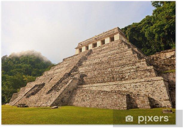 Plakat Piramida Majów w Palenque, Meksyk. - Ameryka