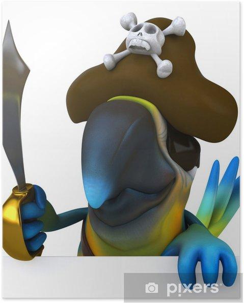 Plakát Pirát papoušek - Značky a symboly