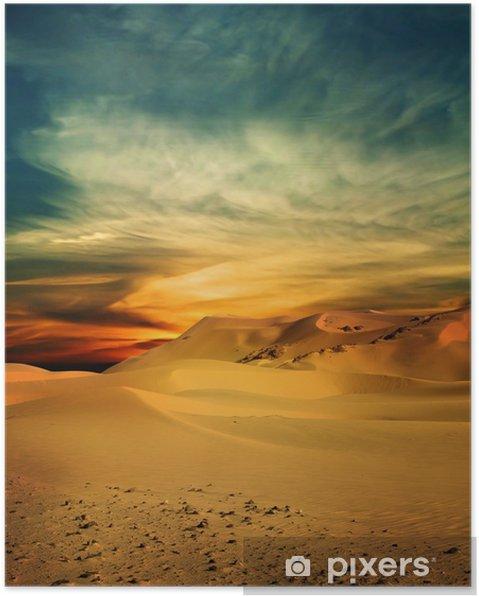 Plakát Písečná poušť v době západu slunce - Témata