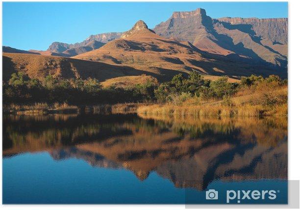 Plakát Pískovce a reflexe, Národní park Royal Natal - Afrika