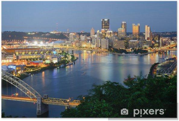 Plakat Pittsburgh skyline - Tematy