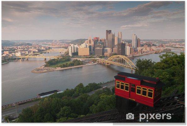 Plakat Pittsburgh skyline - Ameryka