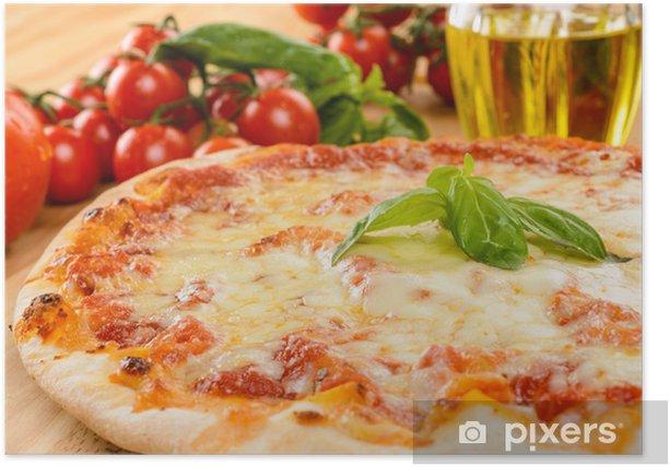 Plakat Pizza stokrotka, zbliżenie, selektywne focus - Tematy
