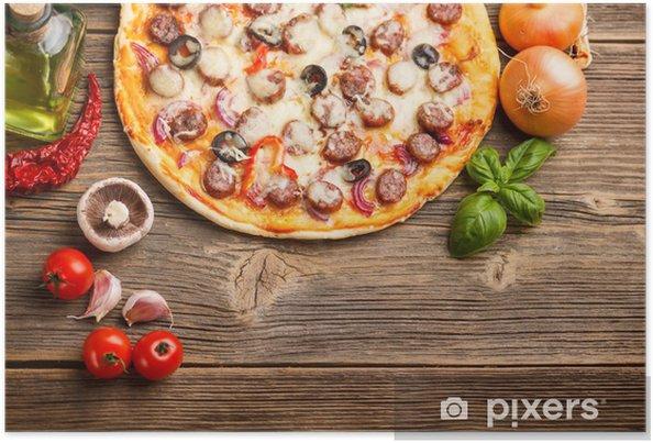 Plakat Pizza z składników - Tematy