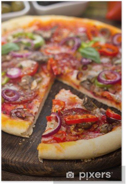 Plakat Pizza z szynką, pieczarkami i serem - Tematy