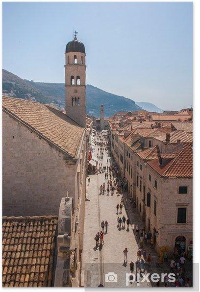 Plakat Placa, Dubrovnik Stare Miasto - Europa