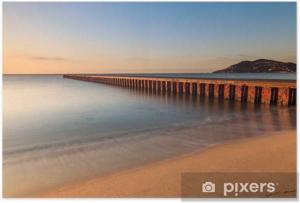 Plakat Plage du sud de la France au Dźwignia du Soleil: Cannes - Alpy Maritimes__ - Krajobrazy