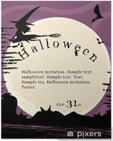 Plakat Plakat Halloween Zaproszenie Pixers żyjemy By Zmieniać
