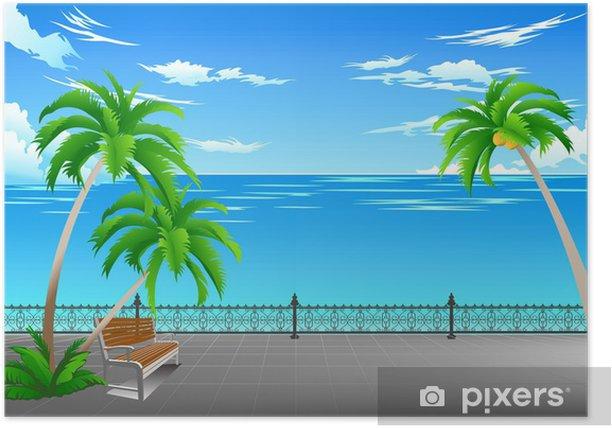 Plakat Plany na morzu od parku - Woda