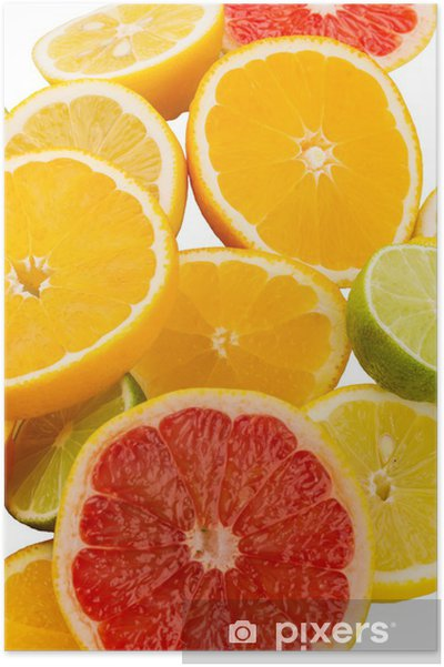 Plakat Plastry pomarańczy -