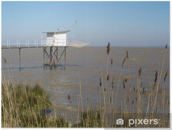 Plakát Platýs bílé pláže Gironde, Medoc, Francie. - Outdoorové sporty