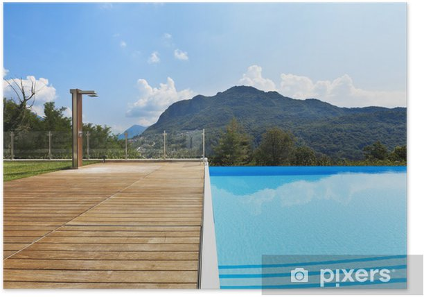 Plakát Plavecký bazén v exteriéru - Prázdniny