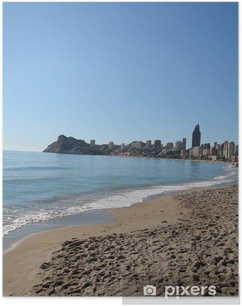 Plakat Playa de Poniente II, Benidorm - Wakacje