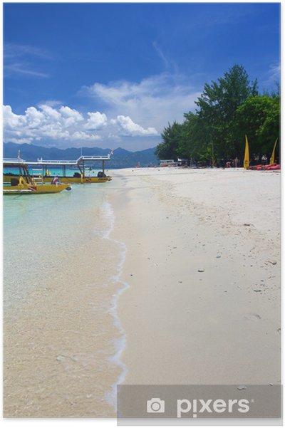 Plakát Pláž na ostrově Gili Trawangan - Prázdniny