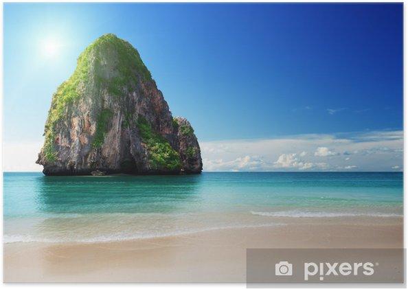Plakát Pláž v provincii Krabi, Thajsko - Voda