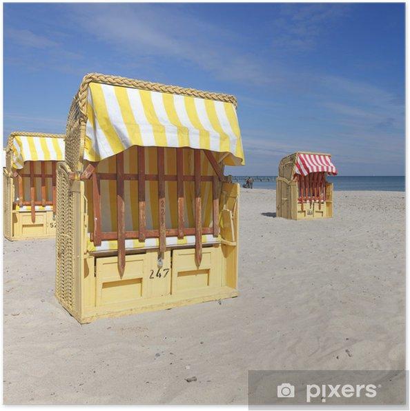 Plakat Plaża krzesło - Wakacje