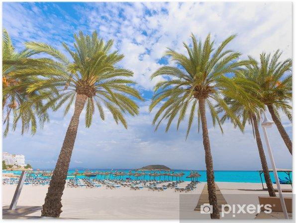 Plakat Plaża Majorka Magaluf Magaluf Calvia Mallorca - Europa