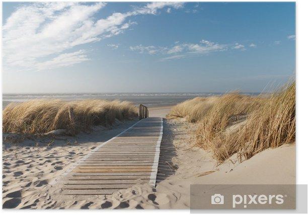 Plakat Plaża Morza Północnego - Morze i ocean
