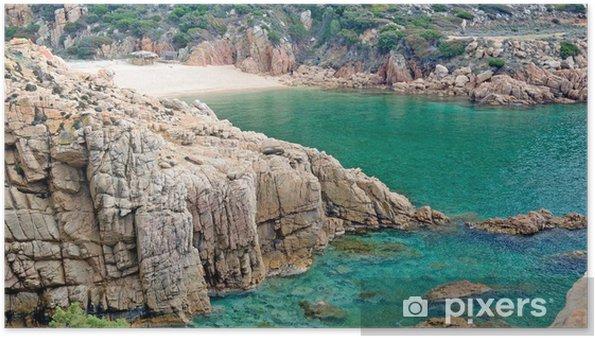 Plakat Plaża Sardynia - Li Cossi - Europa