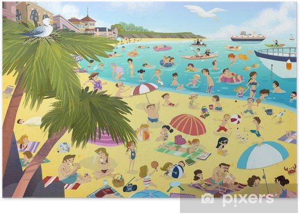 Plakat Plaża w lecie - Wakacje