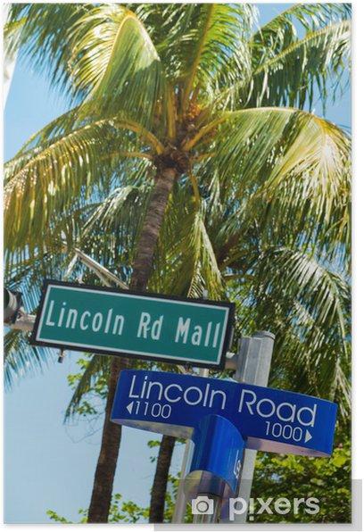 Plakat Plaża w Miami - Ameryka