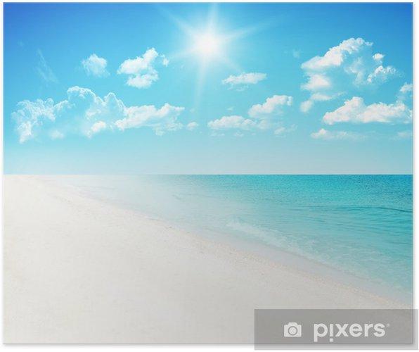 Plakat Plaża w tle - Niebo