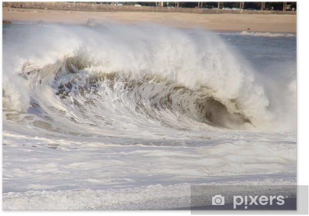 Plakat Plaża Wave - Woda
