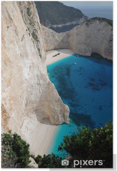 Plakat Plaża wrak, wyspa Zakynthos, Grecja - Europa