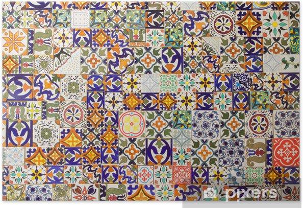 Plakat Płytki ceramiczne wzory - Płytki