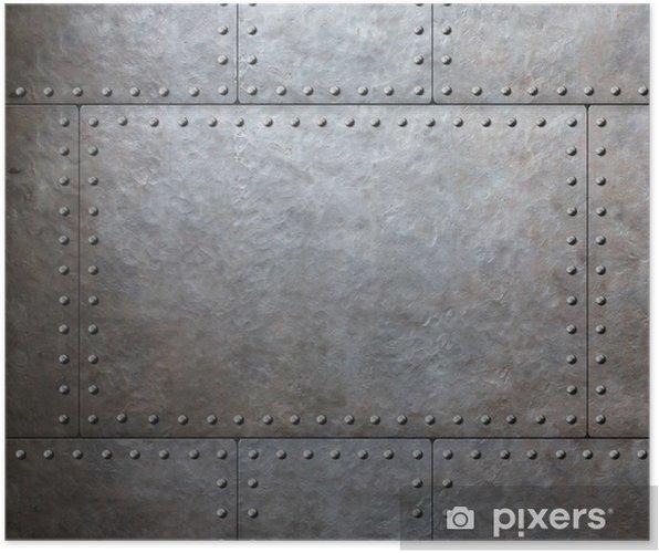 Plakat Płyty metalowe pancerz - Style