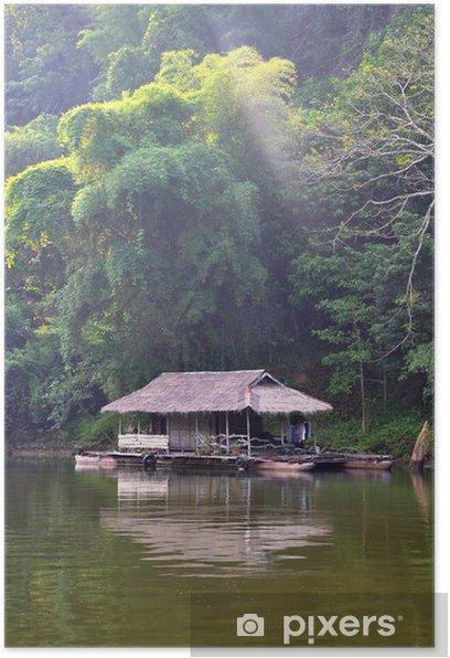 Plakat Pływający dom, rzeka Kwai, Tajlandia - Azja