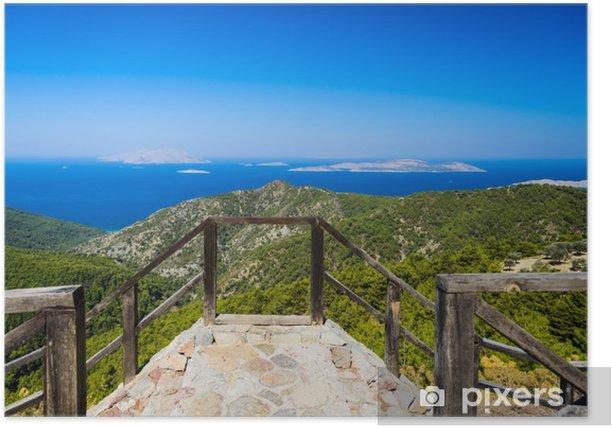 Plakát Pobřeží Egejského moře - Hory