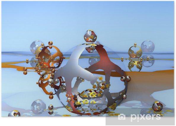 Plakát Podivné světy. Bažina - Abstraktní