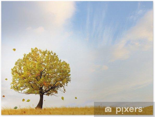 Plakát Podzimní scenérii - Přírodní krásy