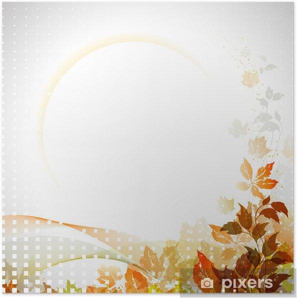 Plakát Podzimní složení s místem pro text - Roční období