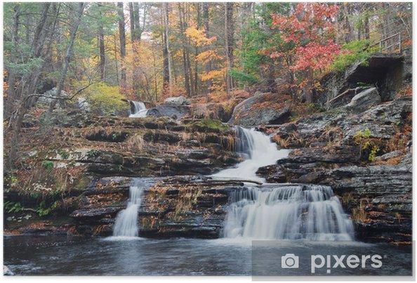 Plakát Podzimní Vodopád v horách - Témata