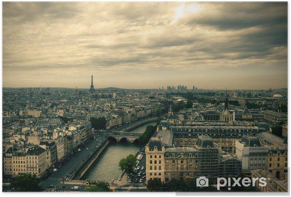 Plakát Pohled na panorama Paříže od katedrály Notre Dame de Paris - Styly