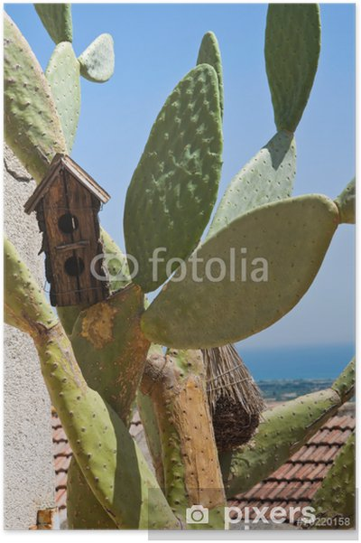 Plakát Pohled na Rocca Imperiale. Calabria. Itálie. - Prázdniny