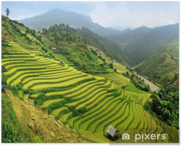 Plakat Pola ryżowe mu cang chai, Wietnam - Style