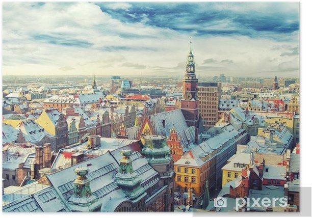 Plakat Polska. widok na wrocław - Budynki i architektura