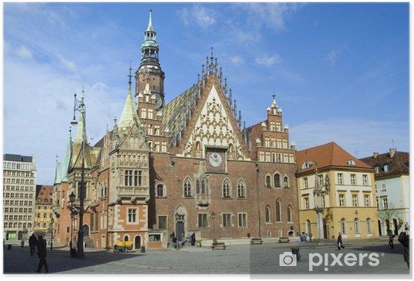 Plakat Polska wroclaw ratusz - Tematy