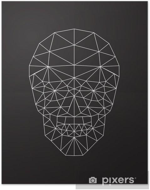 Plakat Polygonal wektor czaszki. - Zasoby graficzne