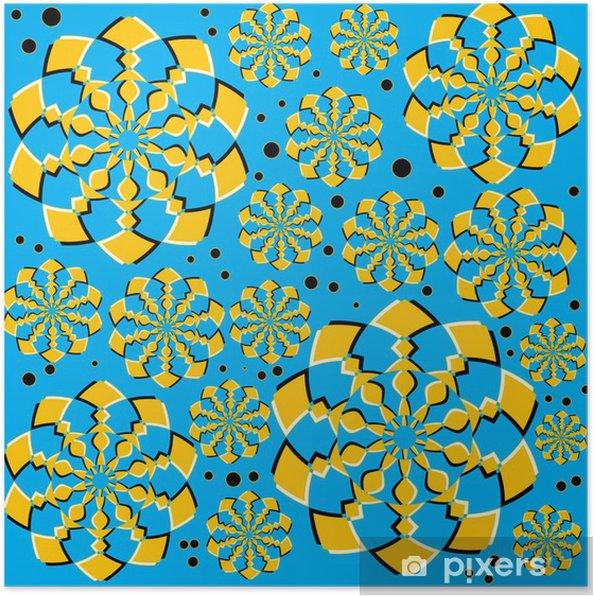 Plakat Pomarańczowy Twirlers (iluzję ruchu) - Tła