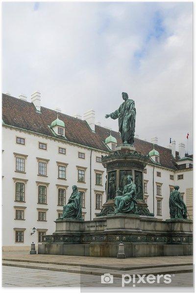 Plakat Pomnik cesarza Franciszka 1, Wiedeń - Europa