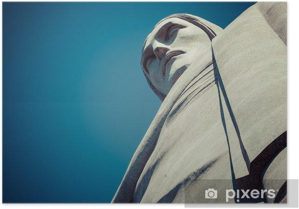Plakat Pomnika Chrystusa Zbawiciela w Rio de Janeiro w Brazylii - Miasta amerykańskie