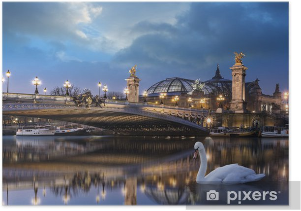 Plakat Pont Alexandre III i Grand Palais - Miasta europejskie