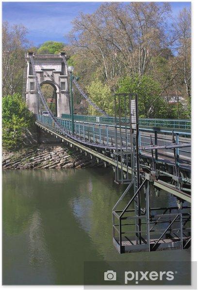 Plakat Pont de l'Ile Barbe w Lyonie - Infrastruktura