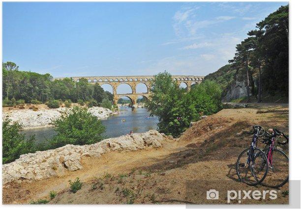Plakat Pont du Gard, Linguadoca Roussillon, Francja - Europa